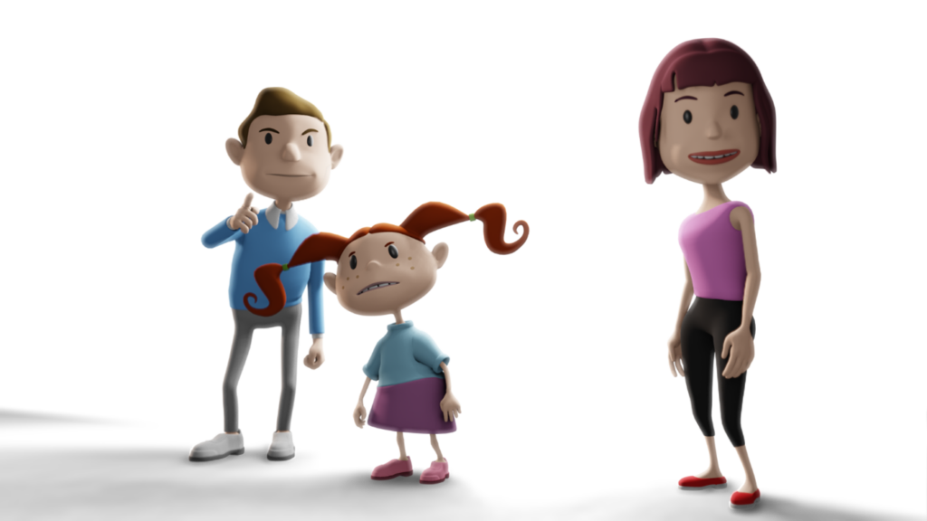 Entwurf FASD Erklärfilme 3D Cartoon
